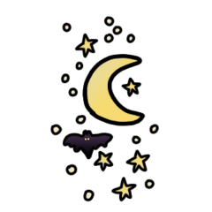 freetoedit scary halloween bat moon scarynight ftestickers
