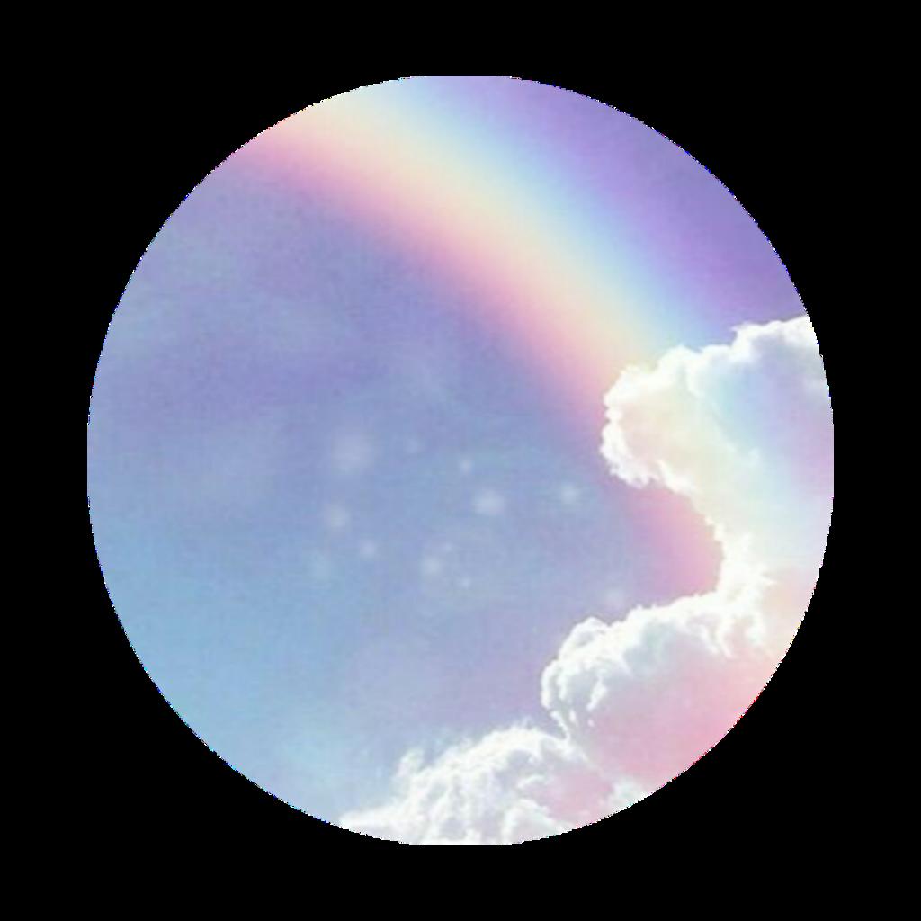 #freetoedit #rainbow #clouds #circle