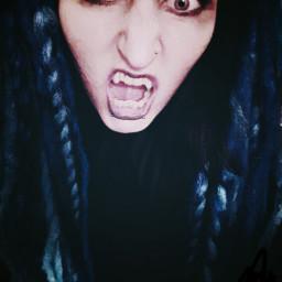 vampire vampiress fangs bloodlust dreadlocks