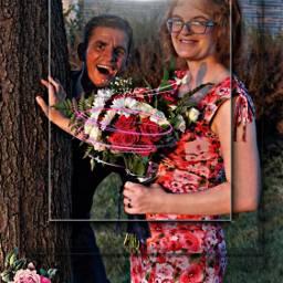 freetoedit married flowers bouquet tree