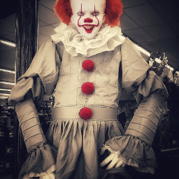 pennywisethedancingclown pennywise it it2 clown freetoedit
