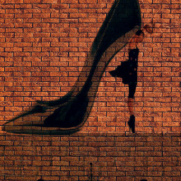 freetoedit ladrillos pared tacon shoe eccanvastexture