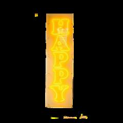 sticker happy yellow aesthetic neon freetoedit