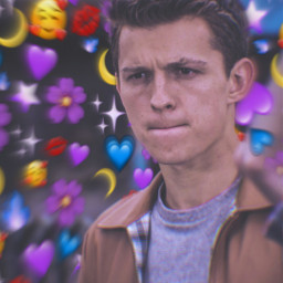 freetoedit tomholland flowers hearts purpel
