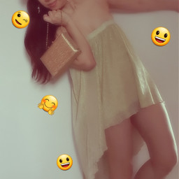 freetoedit gold bag emoji vintageeffect