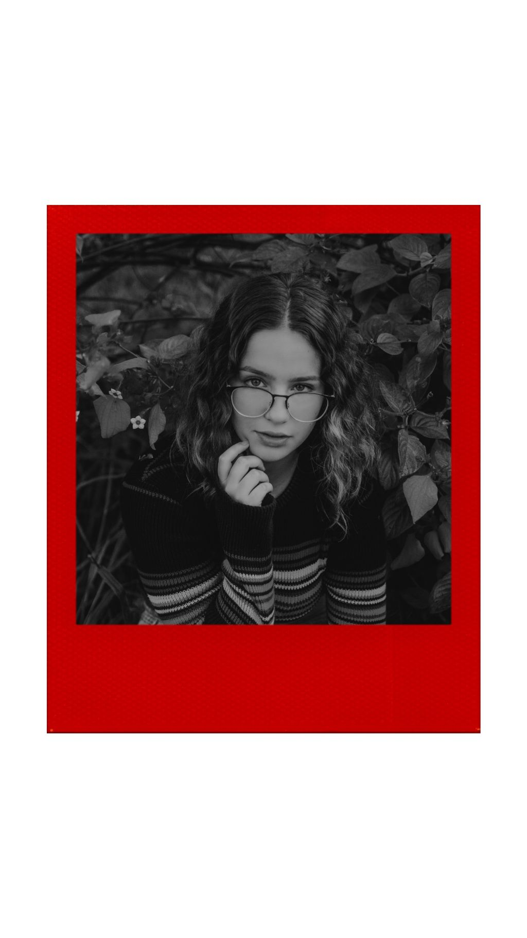#girl #polaroid #red #redpolaroid #story #blackandwhite  #freetoedit