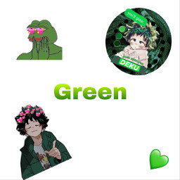 freetoedit green deku