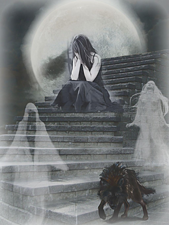 #freetoedit #halloween #halloween2019 #darkart #ghost #darkangel #fullmoon #minimaledit #keepitsimple #myedit #madewithpicsart