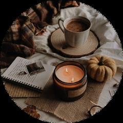 fall aesthetic circlesticker candle pumkin freetoedit