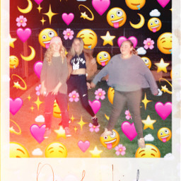 freetoedit family emoji polaroid
