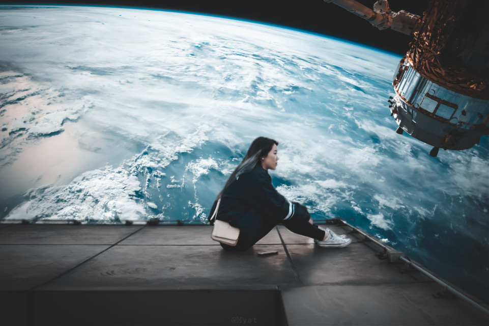 #freetoedit #surreal #surrealistic #surreality #myst #earth #girl #person #space