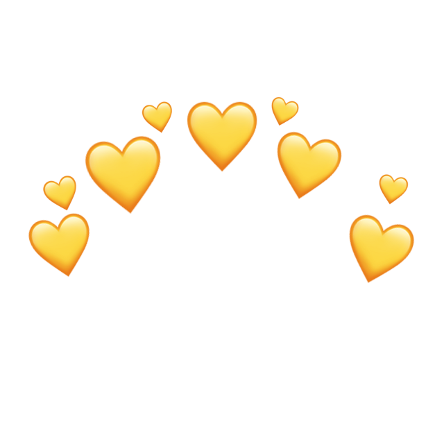 Yellow Heart Crown sticker!  #yellow #heart #crown #emoji #apple #iphone #freetoedit