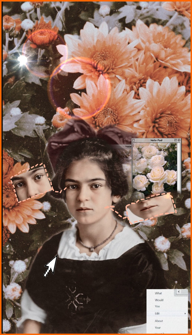 A wonderful discovery. This #artwork is done by @ocean689 worth reposting. Thank you for sharing. Love the #fall #autumn  tonal colors. 🍂🍁💓☺️👏 #youngfrida #frida #unibrow_queen  #freetoedit