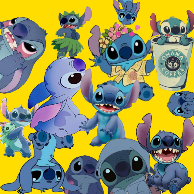 #freetoedit #stitch @daydreamxchely 😍 🌼@chelyxedithelp 🥀❤️@strangerxweasley_ 💕🌿@makepicsartwonderful 🌸😘@softie-sink-fan💓😋  I know...... It isn't good 😶