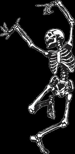 skeleton dancing dance halloween spooky freetoedit schalloweenskeletons
