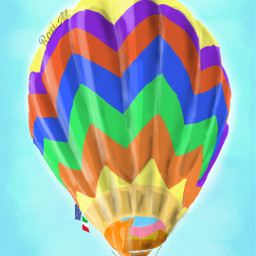freedom drawing colourful sky fly dchotairballoon