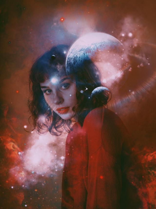#freetoedit #picsart #heypicsart #makeawesome #madewithpicsart #vin2 #girl #galaxy #galaxygirl #planets #milkyway #red #surreal #surrealism #rededit #smokebrush #smoke #galaxyremix #stars #followme #vip #vipproject