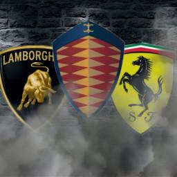 supercars @elias_ov ferrari königsegg lamborghini smoke freetoedit