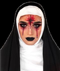 freetoedit girl nun halloweenmakeup