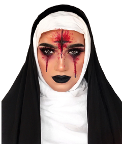 freetoedit girl nun halloweenmakeup