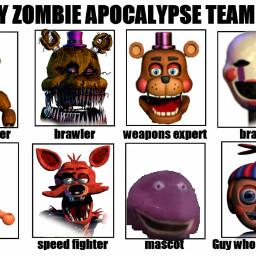 fnaf zombie zombieapocalypse apocalypse freetoedit