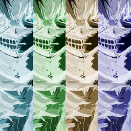 kenkaneki tokyoghoul multicolor negativeeffectremix