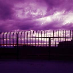 cloudsandsky purple clouds silhouette likepls freetoedit