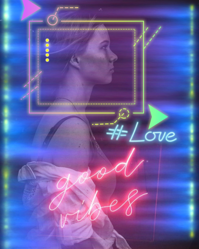 #freetoedit #neon #love #goodvibes #girl #words #neonlight