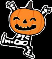dancing pumkin skeleton joy happy freetoedit