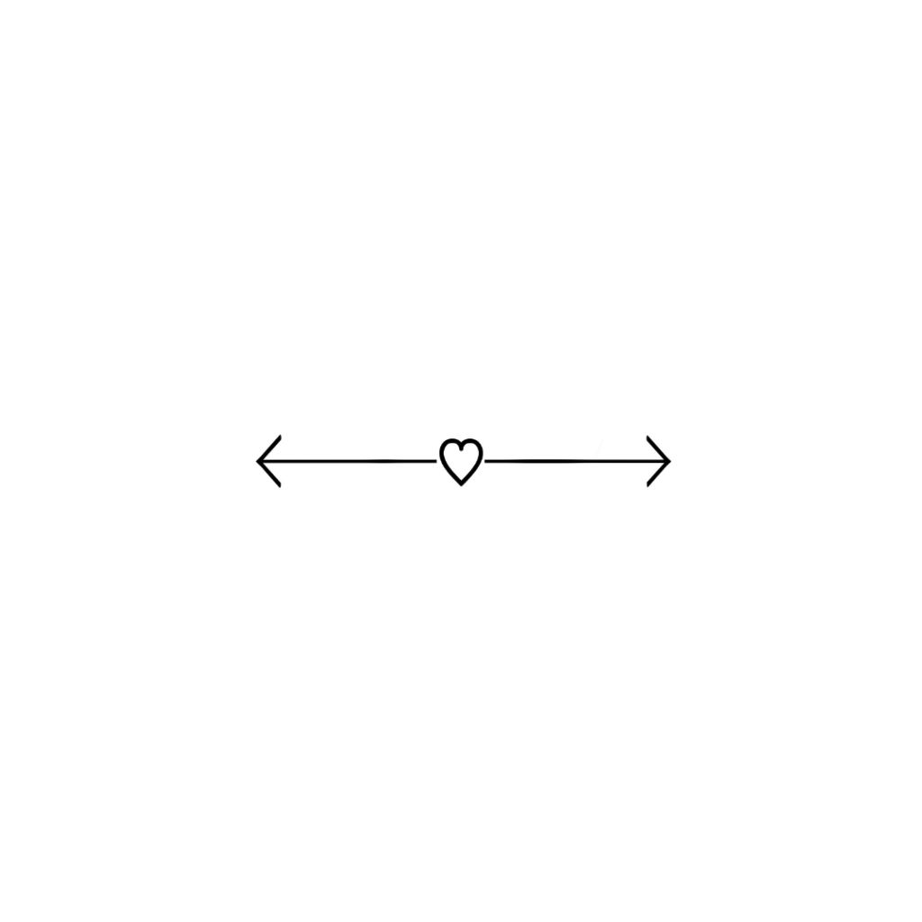 #heart #white #arrow