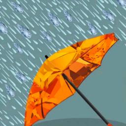 freetoedit umbrella gem rain orange ecswarovskitodayiam