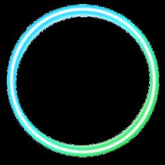 freetoedit ring blue green neon