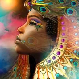freetoedit gem jewelry egyptian headdress ecswarovskitodayiam