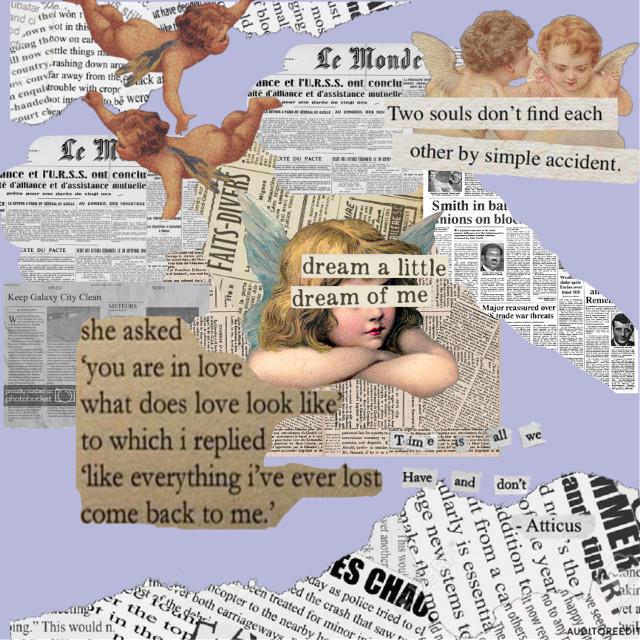 ✨𝐚𝐧𝐠𝐞𝐥𝐬  #art #angelwings #angel #newspaper  #freetoedit
