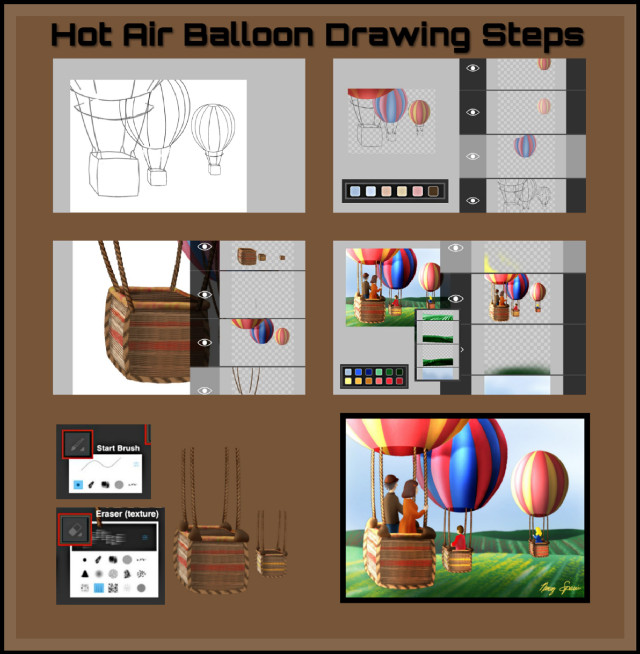 To View the finished drawing tap url: https://picsart.com/i/308891785075201  #nofeature  #drawstepbystep #dchotairballoon #hotairballon #mydrawing #colorpalette #brushes #collage #madewithpicsart