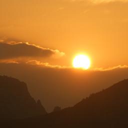 sunset mountain sun landscape nature