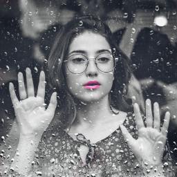 freetoedit rain beautiful girl picsart