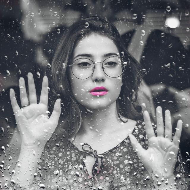 #freetoedit #rain #beautiful #girl #picsart #dramatic #colorsplash
