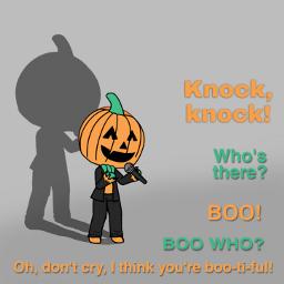 freetoedit halloween cute humor knockknock ecgachalifehalloweenoc
