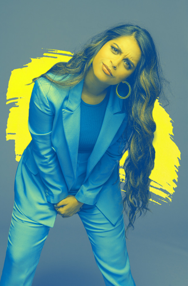 VOTE FOR ME!!😚#portrait #pretty #blue #yellow #paint #paintstroke #color #popart #freetoedit #ecalittlelate #alittlelate