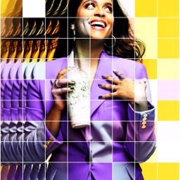 pretty portrait coffee grid purple ecalittlelate freetoedit