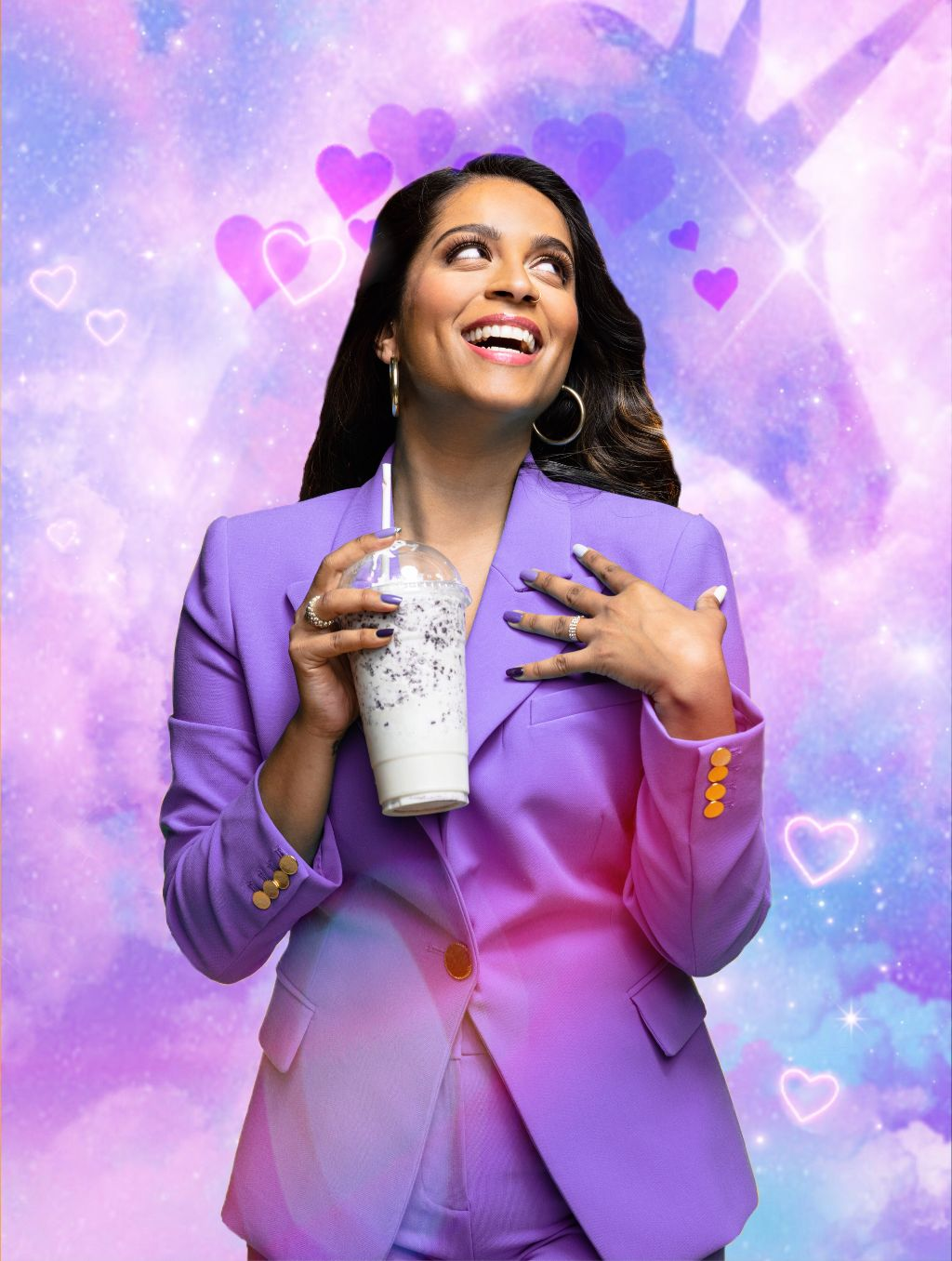 Lilly Singh is by far one of my most favorite people in the world. She has been an inspiration to me since I found her as an insecure preteen. Everyday she continues to teach me to be better and to follow my dreams. Thanks Lilly! #freetoedit #remixit #Lilly #Singh #ALittleLateWithLillySingh #purple #unicorn #indiArt01 #ecalittlelate
