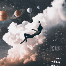freetoedit dreamy planets stars buildings