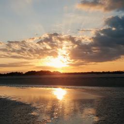 freetoedit sea sunset mypic riflesso