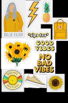 aesthetic vsco stickers yellow amazing freetoedit