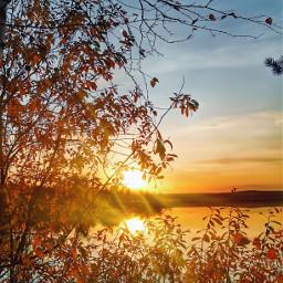 sunset colorful vividcolor autumn nature