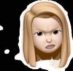 emoji angry face girl freetoedit