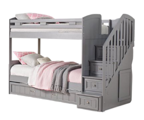 bed bunkbed wooden gray furniture freetoedit