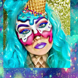freetoedit unicorn makeup costume colorful