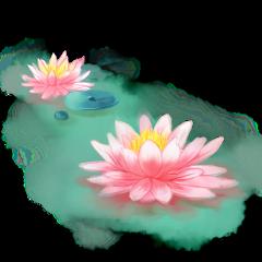 ftestickers water pond flowers lotus freetoedit